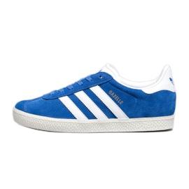 Sapatos Adidas Gazelle J Jr BB2501 branco azul
