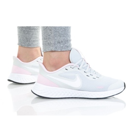 Sapato Nike Revolution 5 (GS) Jr BQ5671-021 branco preto