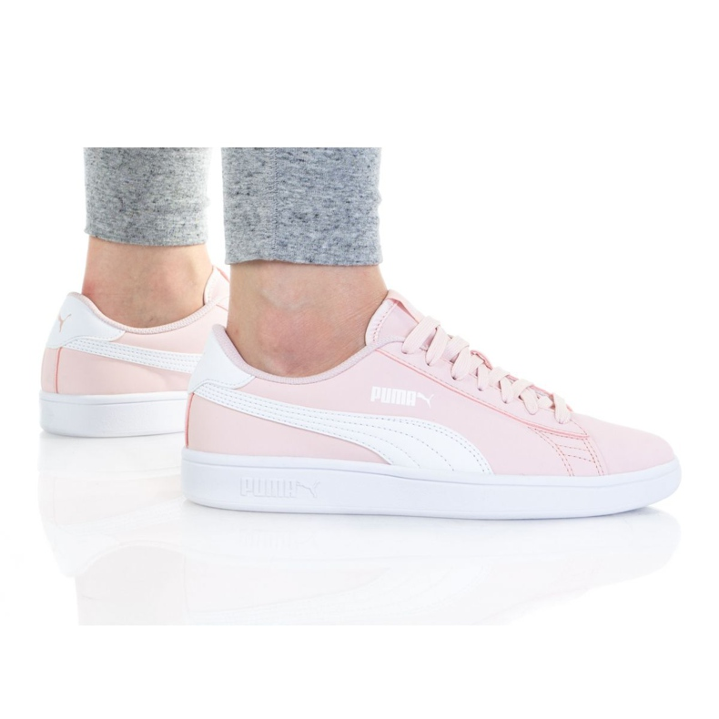 Sapatos Puma Smash V2 Buck Jr 365182 35 preto rosa