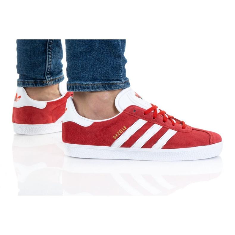 Sapatos Adidas Gazelle Jr FX6116 vermelho laranja