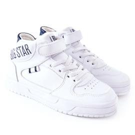 Calçados infantis esportivos Big Star II374034 Branco e azul marinho