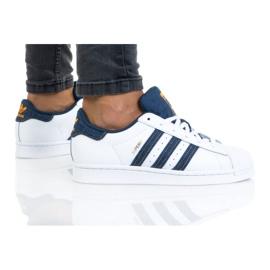 Sapatos adidas Superstar Jr H04025 branco azul marinho