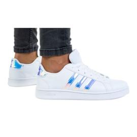 Sapatos Adidas Grand Court K FW1274 branco tolet