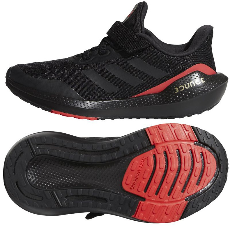 Tênis de corrida Adidas EQ21 Run El K Jr GZ5399 preto
