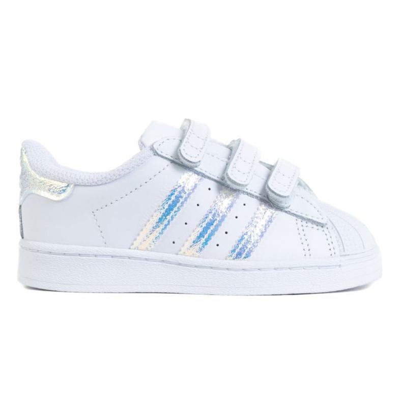 Tênis Adidas Superstar Cf I Jr FV3657 branco