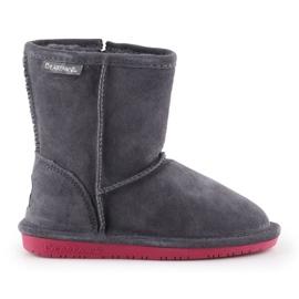 Sapatos de inverno BearPaw Emma Toddler Zipper Jr 608TZ-903 Charcoal Pomberry azul marinho