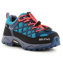 Sapatos de trekking Salewa Wildfire Wp Jr 64009-8641 preto azul
