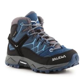 Salewa Alp Trainer Mid Gtx Jr 64010-0365 azul marinho