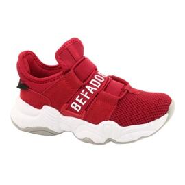Calçados infantis Befado 516Y064 branco vermelho