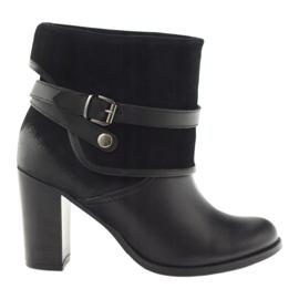 Botas clássicas pretas das mulheres botas de inverno Edeo 1754 preto