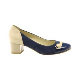Sapatos femininos Edeo 1900 azul marinho