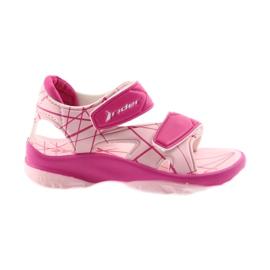 Sapatos de velcro rosa sandálias infantis para água Rider 488 -de-rosa