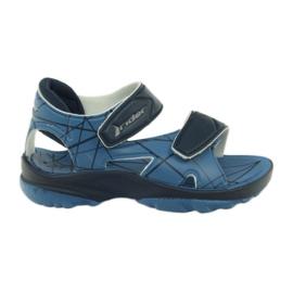 Sandálias azuis de velcro infantil para água Rider