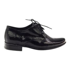 Sapatos infantis pretos lacados Gregors 429