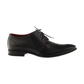 Sapatos masculinos clássicos pretos Pilpol 1623