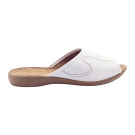 Chinelos de sapatos femininos Befado virar 254d058 branco