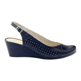 Sandálias para mulher com dedos Gregors 591 cz preto