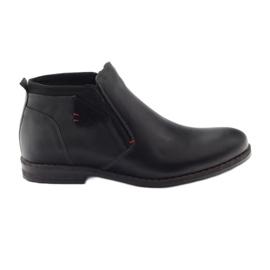 Preto Botas masculinas de inverno Nikopol 622 black