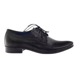 Preto Sapatos masculinos Nikopol 1597 black
