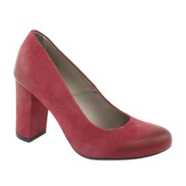 Sapatos clássicos femininos Edeo 2119 Borgonha