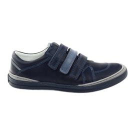 Sapatos para meninos, veludo Bartuś, azul marinho