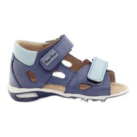 Sandálias do menino, nabos Bartuś azul