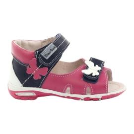Sandálias das meninas - borboleta Bartuś rosa