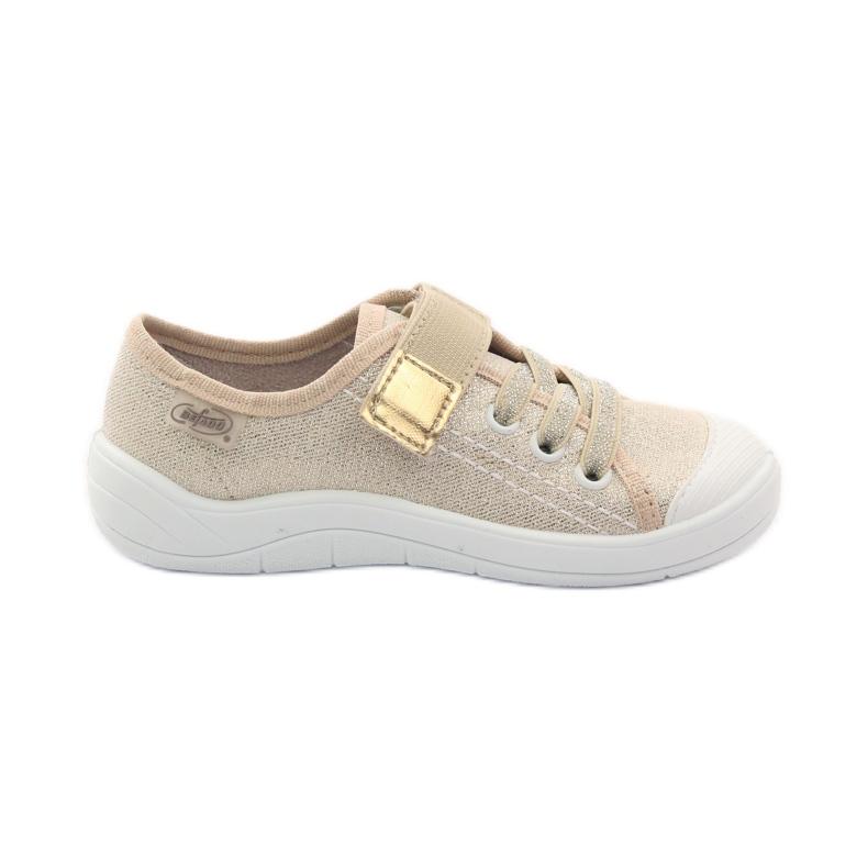 Sapatilhas femininas de chinelos Befado 251x071 gold