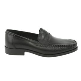 Pilpol Sapatos mocassins pretos Pilbut 01