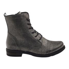 Edeo Botinas de tornozelo de trabalho preto metálico