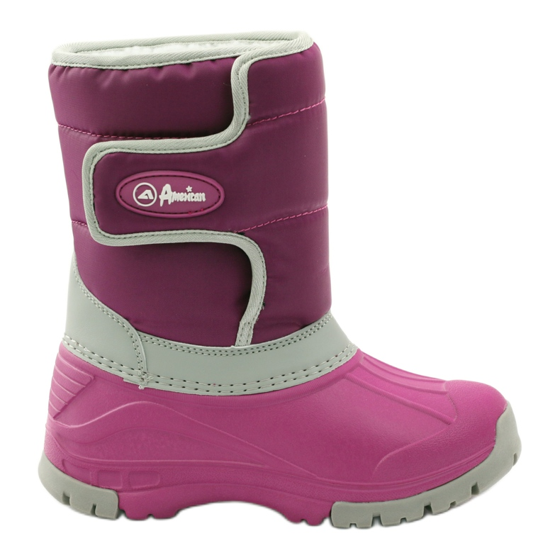 American Club Botas de inverno botas americanas superleves rosa cinza