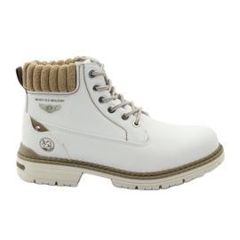 McKey branco Botas de inverno atadas 400
