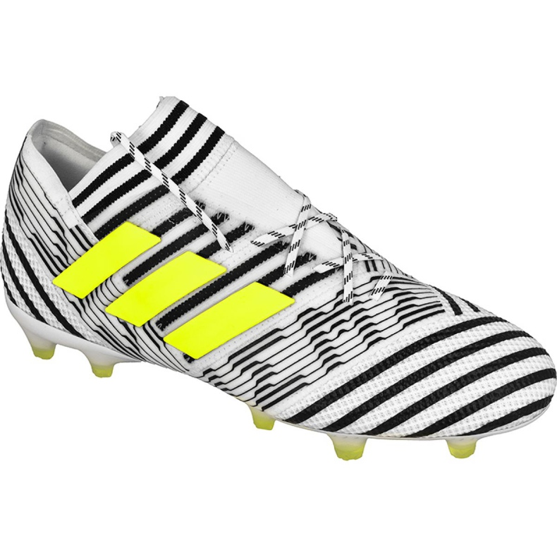 Chuteiras de futebol adidas Nemeziz 17.1 Fg M BB6075 branco, preto branco