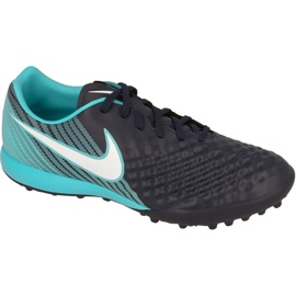 Sapatos de futebol Nike MagistaX Onda Ii Tf M marinha marinha, azul
