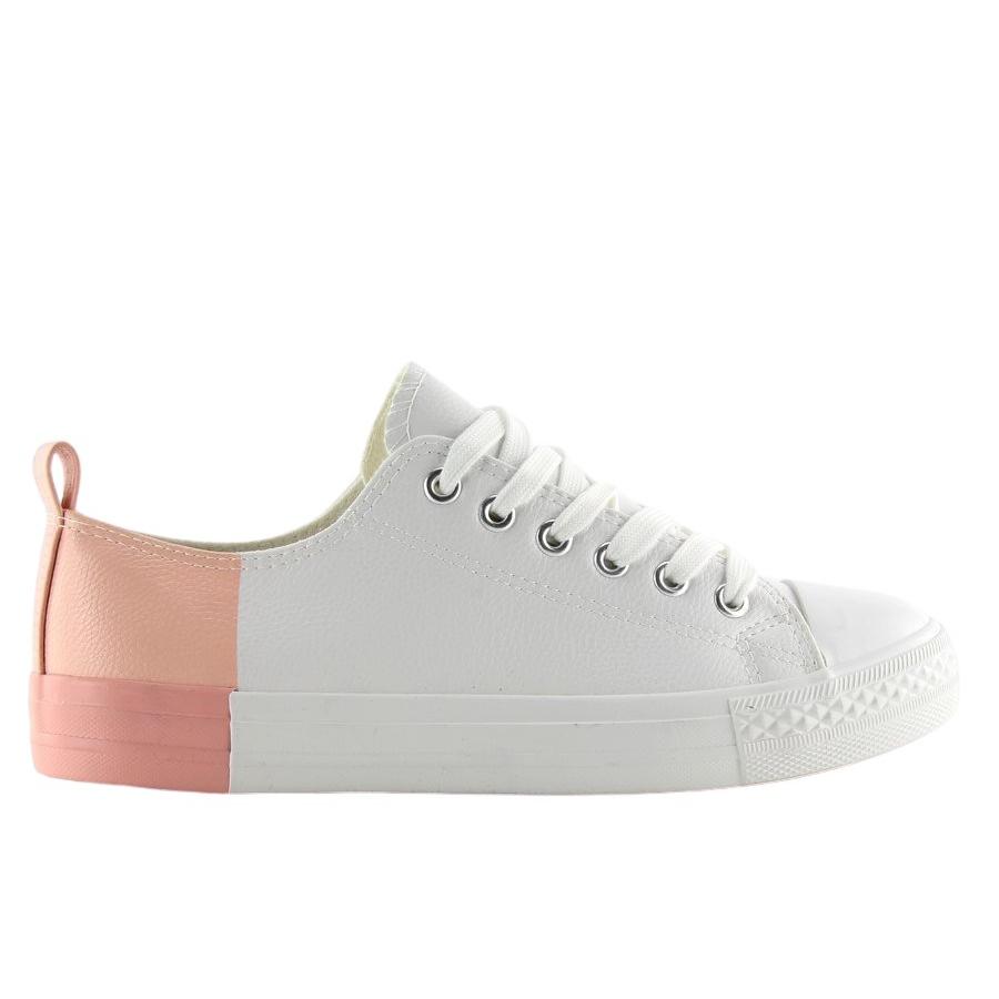 Sapatilhas cor de rosa das mulheres B70A ROSA BRANCO