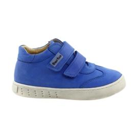 Azul Sapatos para meninos para Velcro Bartuś
