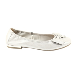 Sapatilhas Caprice sapatos 22111 prata cinza
