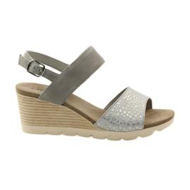 Sandálias Caprice sapatos femininos 28701 cinza