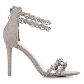Vinceza Sandálias Cinzentas Com Ornamentos cinza
