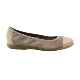 Calçados femininos Caprice 22152 couro marrom