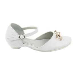 Sapatos de bailarina de cortesia Miko 707 branco