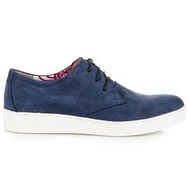 Vinceza Sapatos De Caminhada De Couro azul