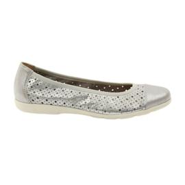 Calçados femininos Caprice 22151 couro cinza