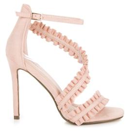 Seastar Sandálias de salto alto com um babado -de-rosa