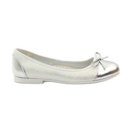 American Club branco Sapatos de bailarina com um arco americano