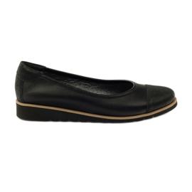 Sapatos de mocassim de couro Angello 1325 preto