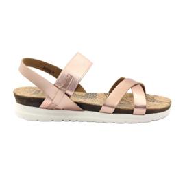 -de-rosa Sandálias das mulheres Big Star 274368