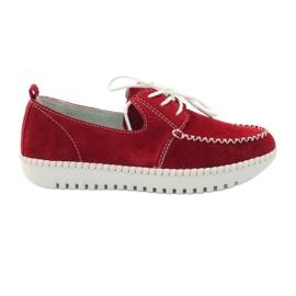 Sapatos de couro Creepersy Filippo 020 vermelho