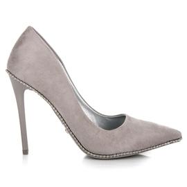 Seastar cinza Saltos altos cinzentos na moda