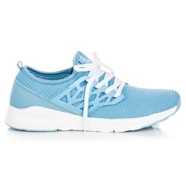 Ax Boxing Sapatos de pano slip-on azul